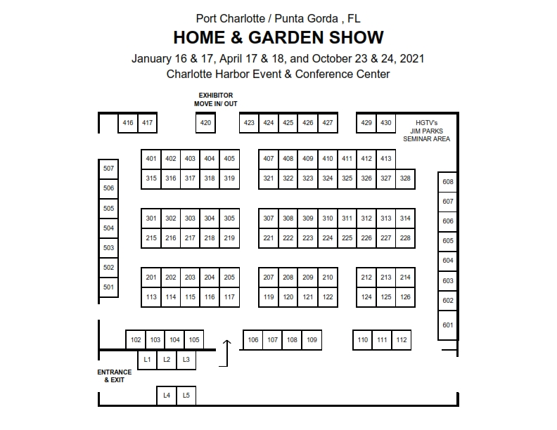 2020 Home & Garden Show FLOOR PLAN Pt Charlotte H&G