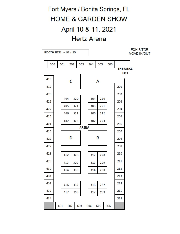 2020 FLOOR PLAN Fort Myers HERTZ ARENA
