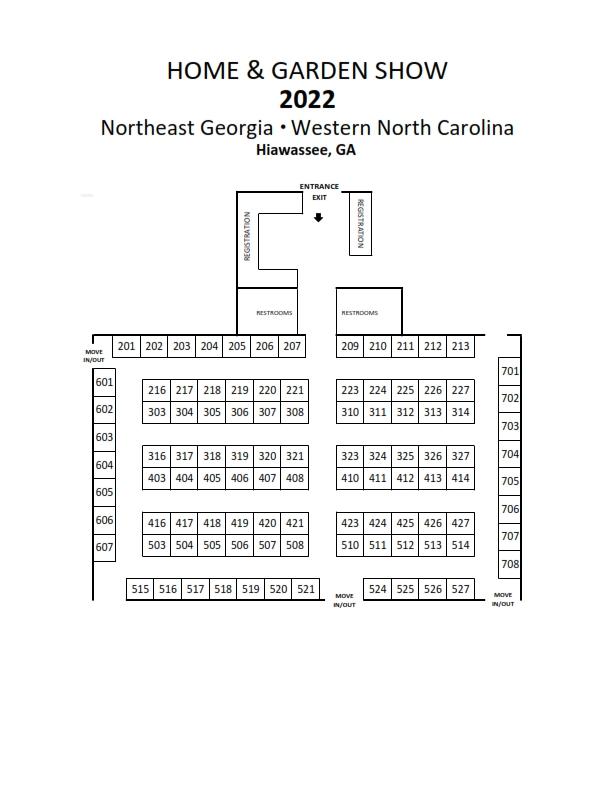 2020 Home & Garden Show FLOOR PLAN Georgia WNC Towns County